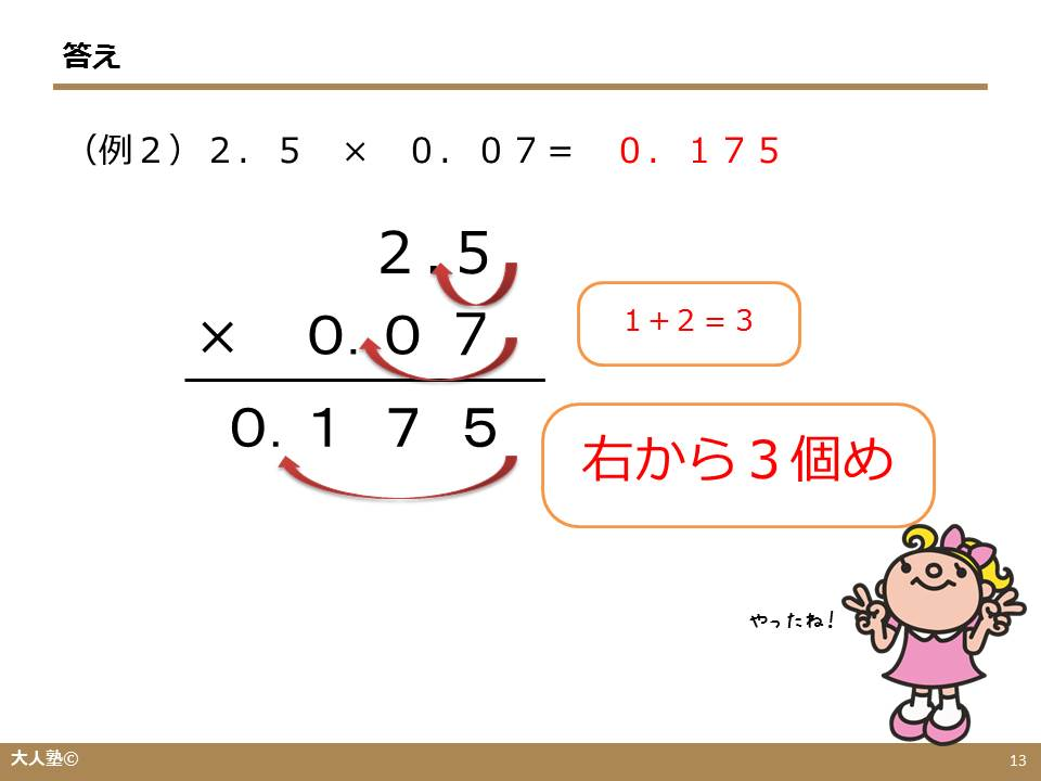 小数×syousuu のかけ算